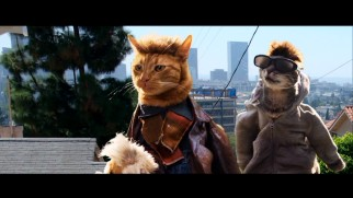 "Cats fill the movie's roles in the amusing ""Seven Psychocats"" trailer recreation."