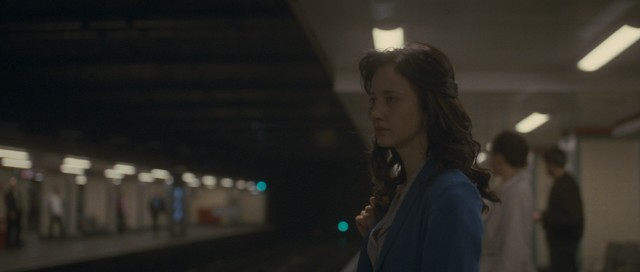 "IRA member Collette McVeigh (Andrea Riseborough) looks to bomb a London underground railroad station in ""Shadow Dancer."""
