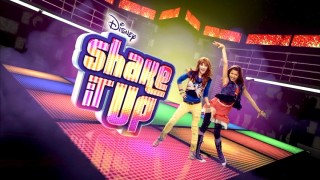 "CeCe and Rocky appear alongside the ""Shake It Up"" title logo for Season 1."
