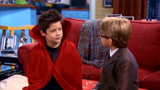 "Flynn (Davis Cleveland) and Henry reflect on their Halloween trick-or-treating encounter in ""Beam It Up."""