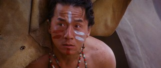 Chon Wang (Jackie Chan) wakes up to face paint and an unexpected public reception.
