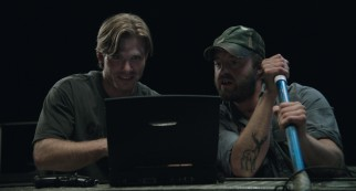 Chris Carmack and Joshua Leonard play Dennis and Red, a more tech-savvy version of the shady redneck archetypes on whom Tucker and Dale are based.