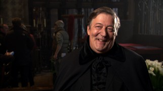 Comedian, actor, and Sherlock Holmes fan Stephen Fry discusses his underclothed performance as Mycroft Holmes in a Focus Point short.