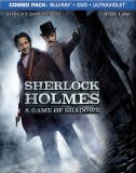 Sherlock Holmes: A Game of Shadows Blu-ray + DVD + UltraViolet combo pack cover art -- click to buy from Amazon.com