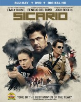 Sicario: Blu-ray + DVD + Digital HD combo pack cover art -- click to buy from Amazon.com