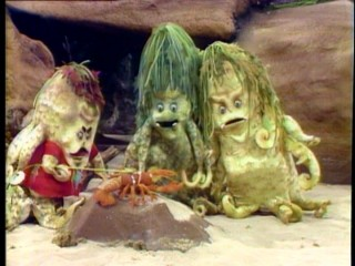 The Ooze family -- seen here: Big Daddy, Slurp, Blurp, and pet lobster Prince -- are bad enough to not want Sigmund with them, but harmless enough to not frighten young Saturday morning viewers.