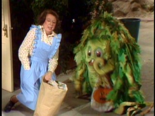 On Halloween night, Zelda (Mary Wickes) reasonably mistakes Sigmund for a trick-or-treater in a costume.
