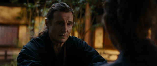 Although prominently marketed, Liam Neeson mostly focuses in one arresting scene as the Portuguese Jesuits' long-missing mentor Ferreira.