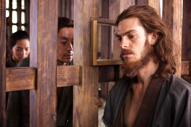 Resembling Jesus, Father Rodrigues (Andrew Garfield) is captured along with Christian followers in Japan and asked to apostate.