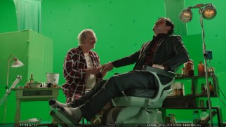 Call him Al: It's an Angels in the Outfield reunion as Christopher Lloyd mends Joseph Gordon-Levitt in the high-speed green screen version of the film.
