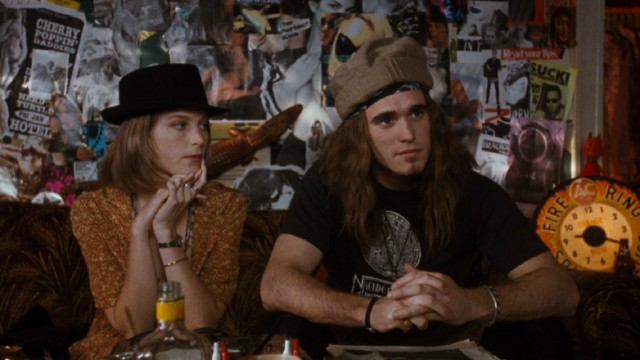Janet Livermore (Bridget Fonda) is a lot more into grunge rocker Cliff Poncier (Matt Dillon) than the other way around.