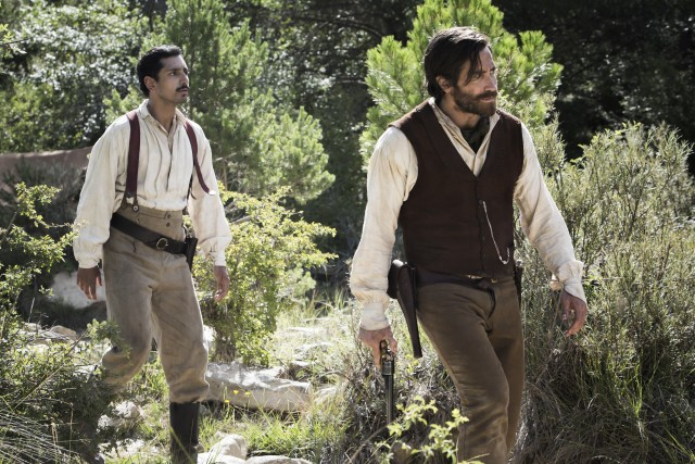 A mustachioed Riz Ahmed and bearded Jake Gyllenhaal reunite to provide support and a primary gold-digging narrative.
