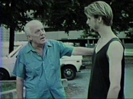 The film's memorable conversation between an old anarchist (Louis Mackey) and his would-be burglar (Michael Laird) is one of the Blu-ray's extended scenes.