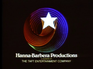 "Episodes of ""Smurfs"" end with this familiar star-swirling logo of Hanna-Barbera Productions."