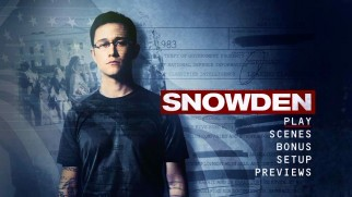 The Snowden DVD main menu is simply adapted from a poster design.