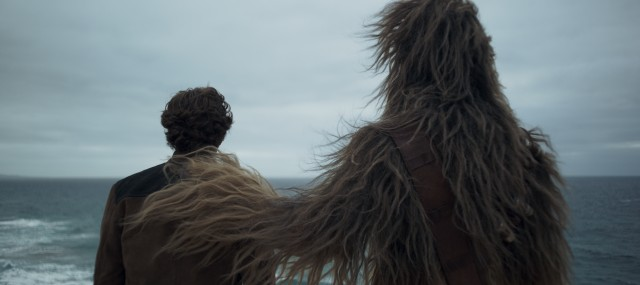 """Solo: A Star Wars Story"" shows us the origins of the long friendship of Han Solo (Alden Ehrenreich) and Chewbacca (Joonas Suotamo)."