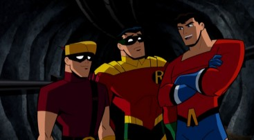 """We could be heroes"", think young sidekicks in the ""The Brave and the Bold"" episode ""Sidekicks Assemble!"""