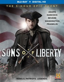 Sons of Liberty (2015 miniseries) Blu-ray Disc cover art -- click to buy from Amazon.com
