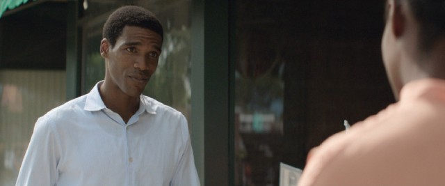 "Parker Sawyers plays the young Barack Obama in ""Southside with You."""