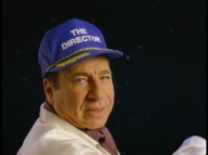 "Mel Brooks in a director's cap features in his memorable ""Spaceballs"" teaser trailer for exhibitors."