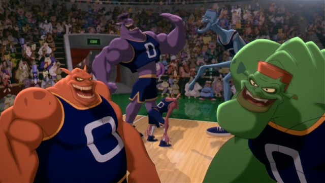 Having stolen the talent of NBA stars, the Monstars pose some out-of-this-world, larger-than-life competition for the Tune Squad.