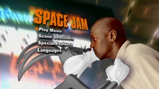 From 2003, Space Jam's DVD continues to settle on this basic main menu design.