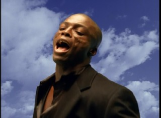 "Seal's clothes blow in the wind in the music video for his ""Fly Like an Eagle"" cover."