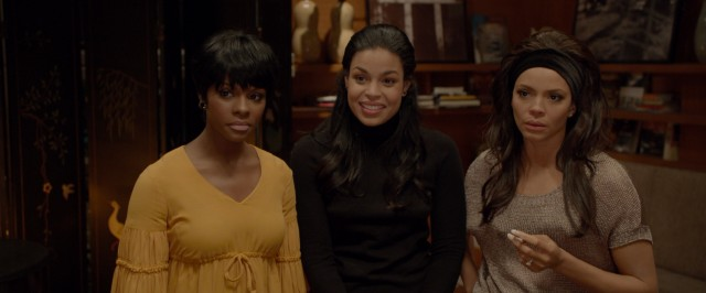 The Anderson sisters (Tika Sumpter, Jordin Sparks, and Carmen Ejogo) have varying reactions to news of nearing a record deal.