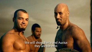 Ashur (Nick E. Tarabay) is able-bodied and accompanied by fellow Syrian friend Dagan (Shane Rangi), for whom he translates.