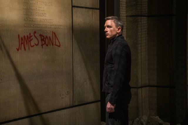 "The writing's on the wall for James Bond (Daniel Craig) in ""Spectre."""