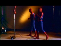 Two Spider-Men and a Spider arm test out costumes in a screen test.