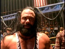 Wrestler Randy Savage snaps into the role of Bone Saw McGraw and talks about it in this webisode.