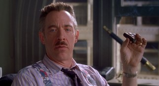 A humorous J.K. Simmons proves to be perfectly cast as the gruff Daily Bugle editor J. Jonah Jameson.