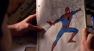 Peter's hand-drawn costume ideas for Spider-Man show quite a bit of promise for an aspiring photographer.