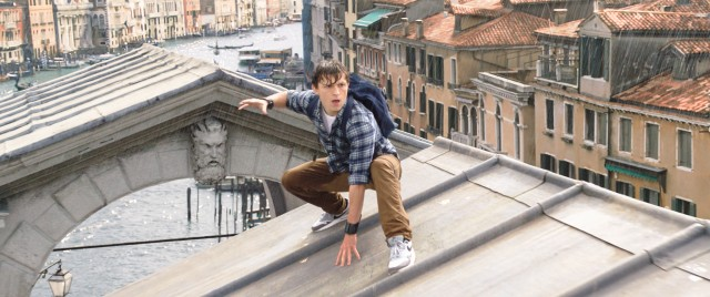 "Elemental dangers disrupt the European class trip of Peter Parker (Tom Holland) in ""Spider-Man: Far from Home."""