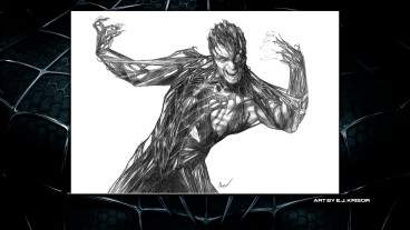 The black symbiote clings to Spider-Man in this Sketches gallery drawing.