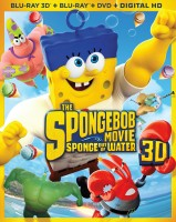 The SpongeBob Movie: Sponge Out of Water: Blu-ray 3D + Blu-ray + DVD + Digital HD combo pack cover art - click to buy from Amazon.com