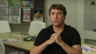 "Marine biologist turned multi-millionaire SpongeBob creator Stephen Hillenburg discusses his involvement with this film in ""SpongeBob SquarePants: Out of His World."""