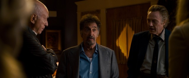 "Alan Arkin, Al Pacino, and Christopher Walken play old criminal friends who reunite in the comedy ""Stand Up Guys."""