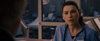 Julianna Margulies gets back into familiar blue scrubs to play Nina Hirsch, an ER nurse and family friend of the guys.