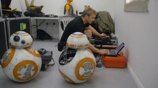 """Building BB-8"" shows two of the droids being brought to life with the use of an ordinary laptop."