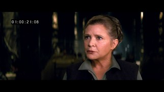 Princess Leia (Carrie Fisher) appears in two of the Blu-ray's newly unearthed deleted scenes.
