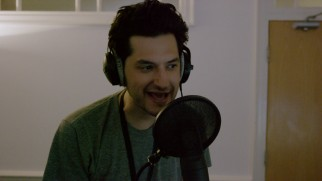 "That's Ben Schwartz (Parks & Rec's Jean Ralphio) working as a voice consultant for BB-8 in ""Sounds of the Resistance."""