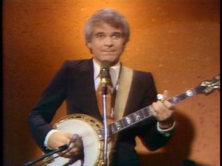 Playing banjo was an integral part of young Steve Martin's stand-up comedy act.