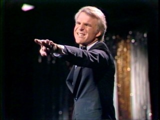"Steve Martin strongly objects to a seemingly innocent line of audience questioning in ""A Wild and Crazy Guy."""