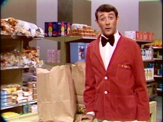 "Pre-Pee-wee Herman, young Paul Reubens promotes a grocery bagging career in ""All Commercials."""