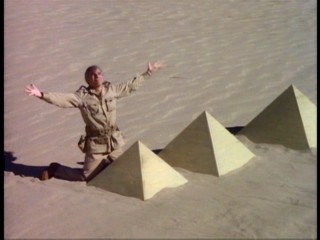 "A documentary host is disappointed to find the Great Pyramids of Egypt not so great in size in ""Steve Martin: Comedy Is Not Pretty."""