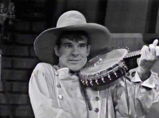 "Steve Martin and his banjo make their first television appearance in a 1966 episode of the black & white children's show ""Dusty's Attic."""