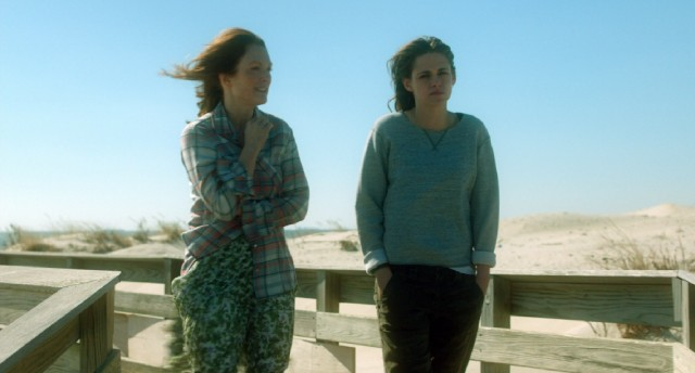 "Mother (Julianne Moore) and daughter (Kristen Stewart) do a beachside walk and talk in ""Still Alice."""
