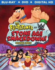 The Flintstones and WWE: Stone Age Smackdown Blu-ray + DVD + Digital HD combo pack cover art -- click to buy from Amazon.com
